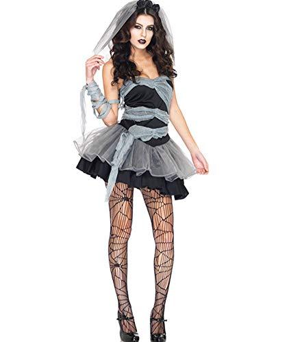 Hxp Kostüm Erwachsene Cosplay Kostüm Kleid Nachtclub Königin Vampire Braut Kostüm Weihnachtsfeier Cosplay Sexy ()