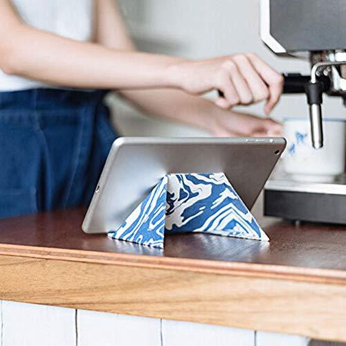 nhalter, kreative Universal-Faulenzen Z1 Universal Faltbare Desktop Tablet Telefon Ständer Halter Halterung für iPad Switch Blau ()