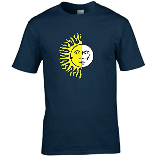 S Tees Aztec Style Sun And Moon Design - Mens T Shirt