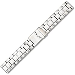 Eichmüller Prestige Stainless Steel Bracelet Matt Fold Over Clasp Watch Strap 24 mm