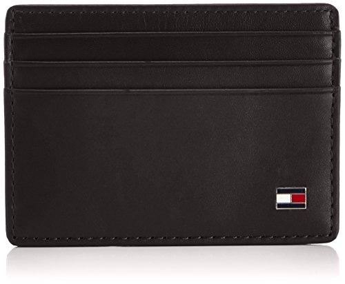 TOMMY HILFIGER Eton CC Holder BlackDatos:o Material: 100% de cueroo Dimensiones: Ancho 10 cm, altura aprox 7 cm, profundidad de 0,5 cmo Color: Negro (Negro)o Fabricante: TOMMY HILFIGER