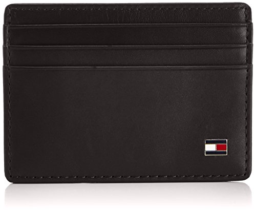 Tommy Hilfiger Eton Cc Holder, Portefeuille - Noir (990 Black), Taille Unique