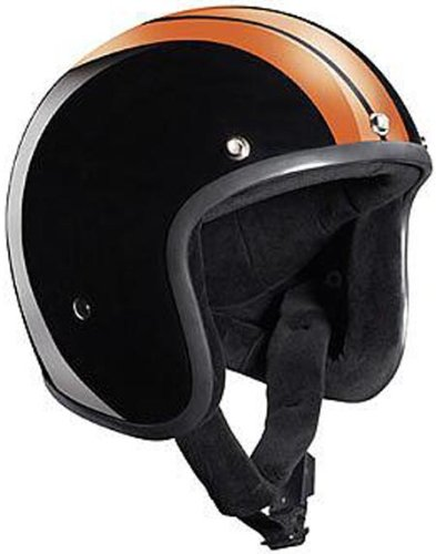 Bandit Jethelm Jet Race schwarz orange ohne ECE inkl. Helmschirm, M 57/58