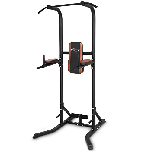 Physionics - Aparato para abdominales y fondos de dominadas (maquina de musculación multifuncional) - aprox. 118/104/220 cm