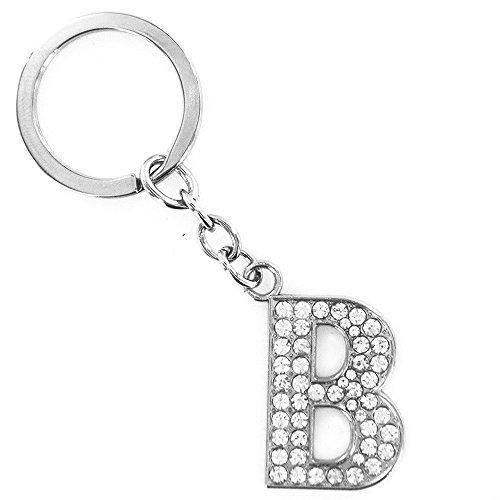 Oyedens Brief Schlüsselanhänger, Elegant Diamant-Schlüsselanhänger Schlüsselbund A-Z, [Der Erste Buchstabe des Namens Liebhaber oder einen Freund]