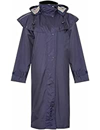 Country Estate Ladies Windsor Waterproof Fabric Lightweight Lined Riding Cape Coat Jacket Trench Coats Macs Lined Detachable Hood Taped Seams Walking Outdoors Countrywear