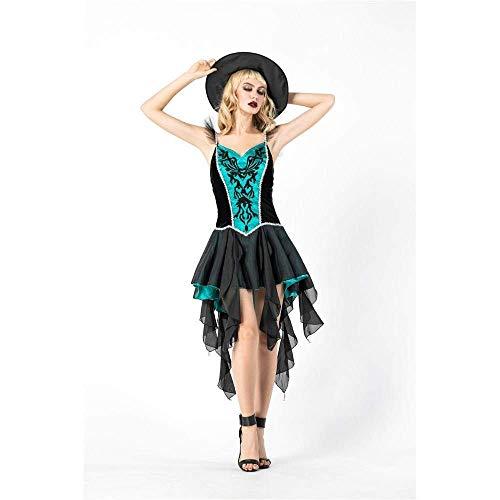 Fashion-Cos1 Sexy Kleid mit Hut Hexe Kostüm Vampir Königin Kostüm Halloween Kostüm