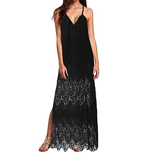 Rose Kleider D (Kleider Damen Dasongff Sommerkleider Frauen Bikini Bademode Cover up Cardigan Beach Badeanzug Kleid Strandkleid Chiffonkleid Weiß (3XL, Schwarz-D))