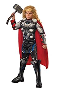 Thor + Hammer Boys Fancy Dress Avengers Age of Ultron Marvel Superhero Kids Childs Costume Outfit (3-4 years)