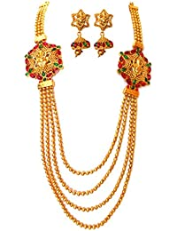 Triumphin Bridal 14K Multicolor Gold Plating Jewelry Sets For Wedding Jewelries For Women Necklace For Girls/women