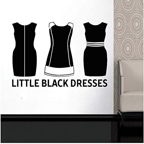 Wandaufkleber schwarzes Minikleid Aufkleber Pvc Vinyl Wohnzimmer Schlafzimmer Hauptfenster Badezimmer Büro Schlafsaal Laden Dekor 57X76Cm