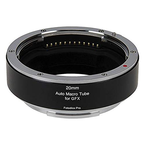 Fotodiox Pro Automatic Macro Extension Tube, 20mm Section - Compatible with Fujifilm Fuji G-Mount GFX Mirrorless Cameras for Extreme Close-up Photography