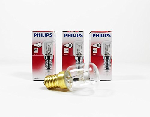 D'origine Philips 25w 300c Ampoule De Four Lampes Pack De 3 Par Doubles Plus