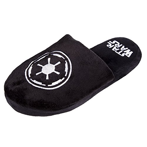 Officiel Star Wars Galactic Empire Noir Adulte Mule Slip On Chaussons -2 Tailles Disponibles