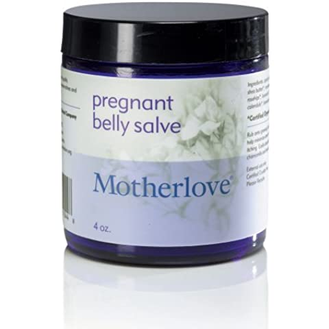 Motherlove Pregnant Belly Salve to Prevent Stretch Marks with Certified Organic Shea Butter and Beeswax, 4oz by