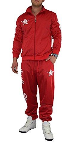 Gorilla-Star angesagter Herren Glanz-Trainingsanzug Jogginganzug Freizeit-Anzug in super Farben Größe S - 4XL (XL, (Anzug Gorilla)
