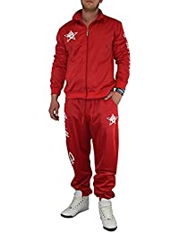 Gorilla-Star angesagter Herren Glanz-Trainingsanzug Jogginganzug Freizeit-Anzug in super Farben Größe S - 4XL