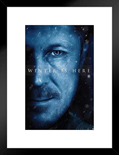 Pyramid America Game of Thrones Season 7 Littlefinger Winter is Here TV-Serie 20x26 inches Matted Framed Poster