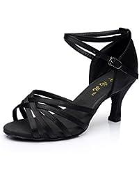 Salabobo - Zapatillas de danza de Satén para mujer Marrón marrón JvR1xCoCa