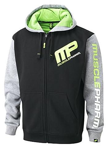 Musclepharm Men's Zip Through Hoodie - Black, Medium