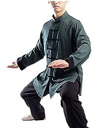 KIKIGOAL Unisex Doble Colores Chino Tradicional Tai Chi Uniformes Kung Fu Ropa Traje Tang Artes Marciales