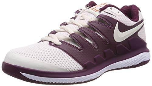 Nike Wmns Air Zoom Vapor X HC, Scarpe da Tennis Donna, Multicolore (Bordeaux/Phantom/White/Orange Blaze 601), 38 EU