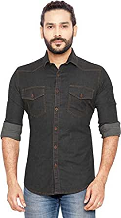GLOBALRANG Men's Regular Fit Casual Shirt