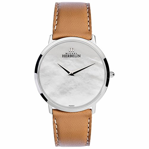 Michel Herbelin Ladies 'Watch Light Brown/Silver/Pearl 17415/09GO