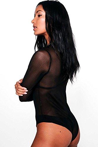 Kaki Femmes Jessica Body Manches Longues En Tulle Bad Habits Kaki