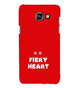 EPICCASE fiery heart Mobile Back Case Cover For Samsung Galaxy A3 (2016) (Designer Case)
