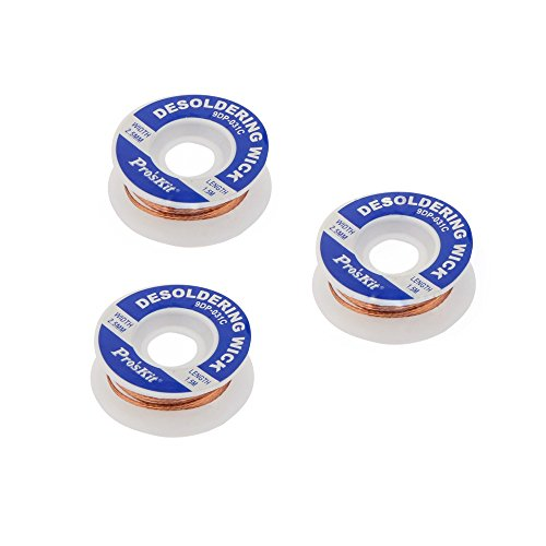 3Rollen/Set Proskit 9dp-031C PK Entlöten Draht BGA Entlötlitze 2,5mm * 1,5m 16g Low Rückstände Dose Absorption Line