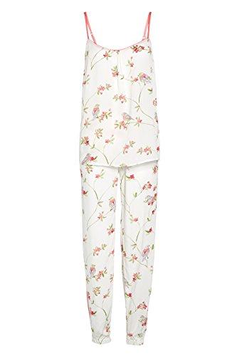 next Pyjama tissé à imprimé floral Standard Femme Crème/Rose