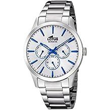89c11409318d Lotus Watches Reloj Multiesfera para Hombre de Cuarzo con Correa en Acero  Inoxidable 18575 1