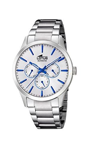 Lotus Watches Reloj Multiesfera para Hombre de Cuarzo con Correa en Acero Inoxidable 18575/1