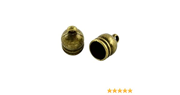 Pack of 20 x Antique Bronze Tibetan 9 x 14mm Kumihimo Bell-Shape End Caps Y02530 Charming Beads