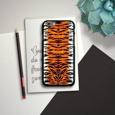 Apple iPhone 5s Housse Étui Protection Coque Tigre Fourrure Peau de tigre CasDur noir