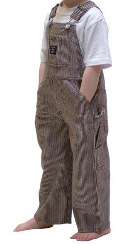 Kinder-Latzhose - Braune Streifen kinder latzhosen, jeans Baby Kleinkind
