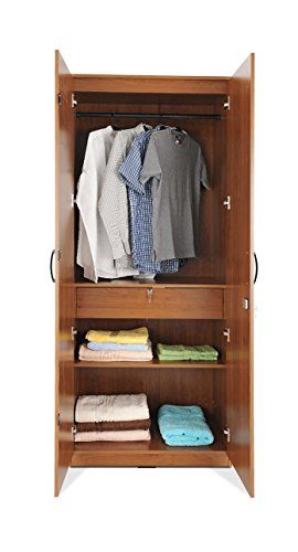 Zuari Two-Door Wardrobe (Brown)  available at amazon for Rs.14550