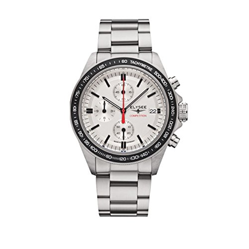 Elysee Start-Up Mens Watch Chronograph Silver Stainless Steel