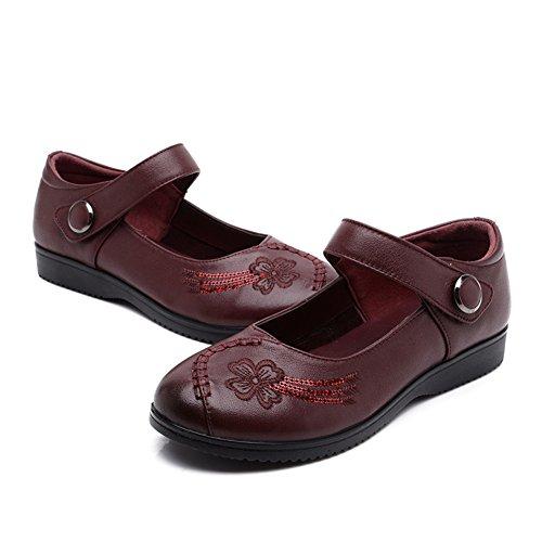 Asakuchi scarpe da donna/Mamma e scarpe inferiori molli/Scarpe di donne di mezza età/Scarpe da lavoro-D Lunghezza piede=25.8CM(10.2Inch)