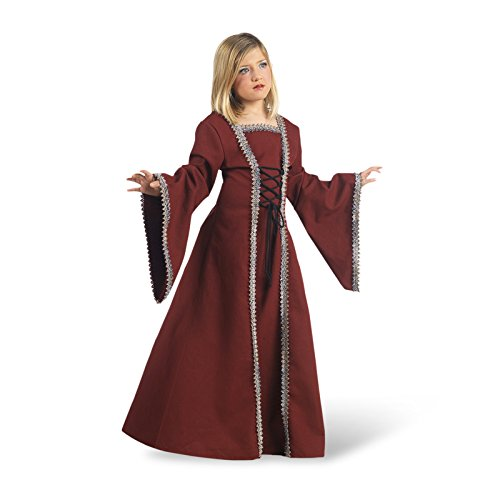 Halloween Renaissance Renaissance Kostüm Boy (Mittelalter Lady Margrit Kinderkostüm Mittelalterkleid für Mädchen bordeaux - 5/7)