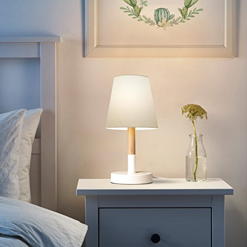 Tomons lampada da comodino / Paralume in tela Lampada da tavolo ...