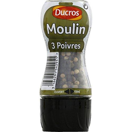 Moulin 3 poivres - ( Prix Unitaire ) - Envoi Rapide Et Soignée
