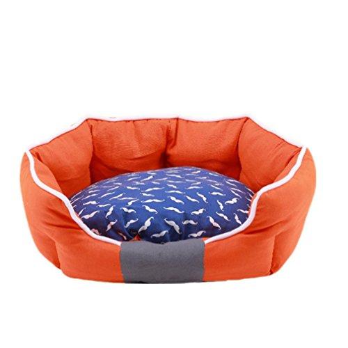 Kit 42 Deck (Haustier Vier Jahreszeit-Segeltuchkennel Teddy Goldener Kleiner Hund Warme Nestmattenauflage Deckenmatte Bequemes Weiches Katzennest: 45 * 42Cm / Rot Orange)