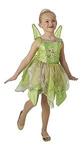 Peter Pan - Disfraz de hada Campanilla Premium para niña, infantil 7-8 años (Rubie