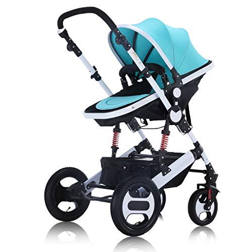 3 en 1 poussettes poussette poussette poussette bébé Landau Safe & Care Système de voyage réglable jogger à 4 roues (Color : Wine red)