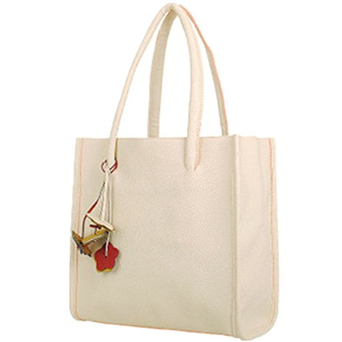 ZARU Mädchen Handtaschen Leder-Umhängetasche Süßigkeiten Farbe Weiß