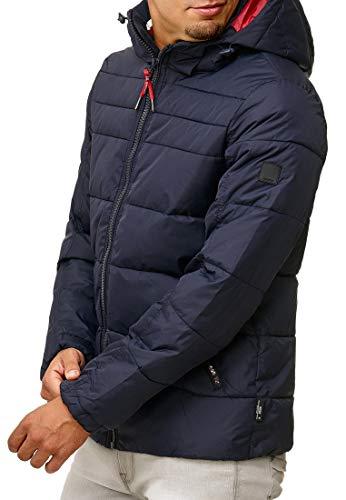 Indicode Herren Philpot Steppjacke Übergangsjacke Jacke mit Kapuze Navy S - 4