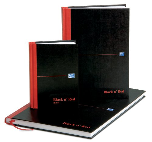 Oxford-Black-n-Red-A4-Matt-Casebound-Hardback-Notebook-Smart-Ruled-96-Pages