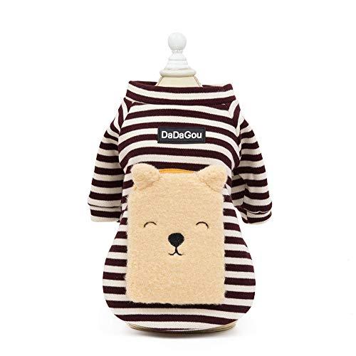 AUED Halloween Kostüm Haustier Hund Cosplay Kleidung niedlichen Modelle tragen Rucksack Sweatshirt Mode Flut Haustier Hund Kostüm Zubehör Dress up Cosplay Party,Braun,L (Essen Kostüm Für Hunde)